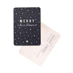 "Image of Carte Postale""MERRY CHRISTMAS / ETOILES / ARDOISE"""