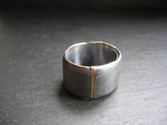 René Talmon l'Armée 'TENEBRE' gold and silver ring. Available @ WHITE bIRD Jewellery.