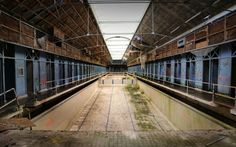 Abandoned swimming-pool in France