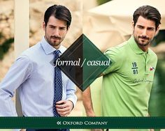 Formal vs Casual !!! Στην καλοκαιρινή συλλογή OC 2015, θα βρείτε υπέροχες προτάσεις τόσο για τις επίσημες, όσο και για τις πιο χαλαρές εμφανίσεις σας.  Μπες | Διάλεξε | Αγόρασε www.oxfordcompany.gr