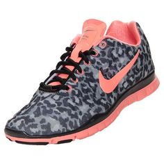 Nike Free TR Fit 3 Print women size 9 in leopard, pink & black  -  Rare!