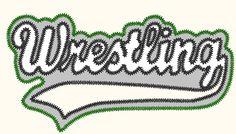 wrestling double applique