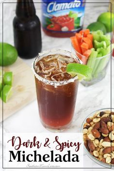 Msg 4 21+: With the Soccer Championship Games coming up, I thought a new cocktail was in order. :) If you haven't heard of a Michelada, it's a beer-based cocktail served in different ways throughout Mexico and South America, but this version is my favorite. I've spiced it up and am using a dark beer to make this a deep and rich Michelada with a kick, perfect to serve at your watch parties! #WinWithClamato [ad]