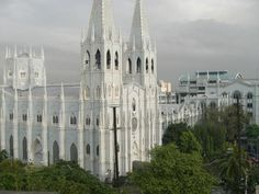 Basilica Minore de San Sebastian, Manila Philippines.  Completed in 1894, this gothic cathedral is claimed as the only prefabricated steel church in the world and from the same foundry of the Eiffel tower.  Eiffel himself is believed to be part of its design and construction.
