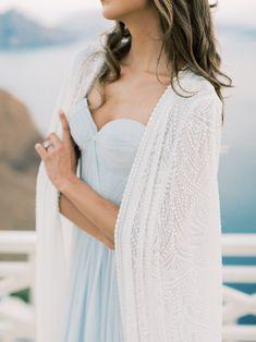 picturesque elopement Blue Wedding Flowers, Blue Wedding Dresses, Shades Of Light Blue, Fantasy Wedding, Strike A Pose, Destination Weddings, Down Hairstyles, Santorini, Wedding Things