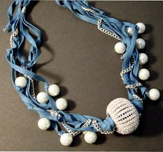 Sparkles From Beach Haus Designs: upcycle jewelry denim necklace