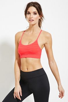 Low Impact - Stripe Sports Bra - Activewear - 2000181420 - Forever 21 EU English