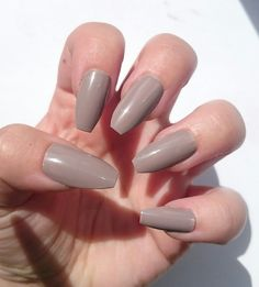 Nude Reusable False Nails / Beige Glue On Fake by NicolasNails14