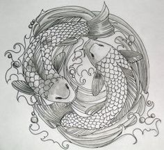 yin yang koi carp tattoo... feelings of zen   Cool Tattoos ...