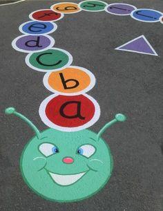 storybookmurals c Devon Artist Creating Murals Watercolours Oil Paintings Drawings Designs Childre Preschool Playground, Playground Games, Kids Indoor Playground, Playground Painting, School Murals, Kindergarten Lesson Plans, Outdoor Classroom, School Decorations, Devon