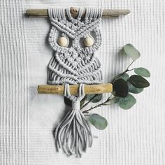 Items similar to Macrame Owl on Etsy Keeping A Bullet Journal, Fabric Crafts, Diy Crafts, Macrame Owl, Unusual Gifts, Bracelet Patterns, Diy Art, Lana, Etsy
