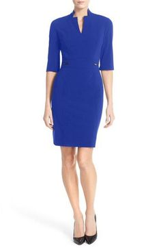 Bi-Stretch Sheath Dress (Regular & Petite)
