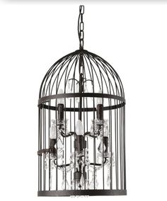 Bird cage & candle Chandelier