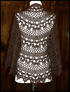 Crochet Lace Weight Shawl Pattern : 1000+ images about Crochet - Shawls, Wraps, and Ponchos on ...