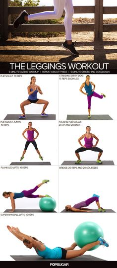 Look-Good-in-Your-Leggings Workout A great workout for your legs! This one hits all the muscles to give you glorious gams.A great workout for your legs! This one hits all the muscles to give you glorious gams. Fitness Workouts, Exercise Fitness, 7 Workout, Fitness Motivation, Sport Fitness, Body Fitness, Excercise, Fitness Diet, Fun Workouts
