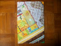 A5 Book Cover in Crazy Patchwork
