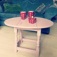 Pinky folding coffe table distressed look