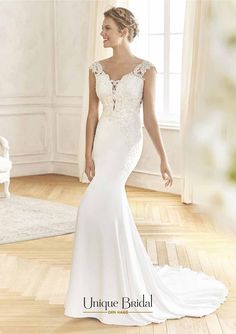 Eightale Mermaid Wedding Dress Vintage V-Neck Appliques Custom Made Chiffon Wedding Gowns Long Sexy Backless Bride Dress Casual Wedding Gowns, Chiffon Wedding Gowns, Wedding Dresses, Bridal Gowns, Allure Bridal, Vestidos Vintage, Vintage Dresses, Cheap Dresses, Nice Dresses
