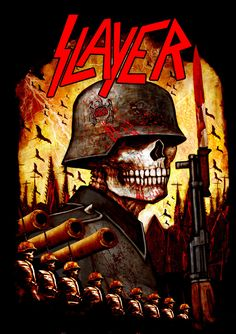 A slayer art cover from their varies of Album cover art's made this one has the classical Nazi/  hell theme to most of their songs