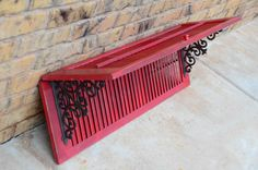 Red Shutter Shelf by MooJuWhimsy on Etsy, $58.00 Basically all the shelving needs to be like this.