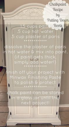 The Skinny on Homemade Chalk Paint - Emily Sue - recipe for homemade chalk paint