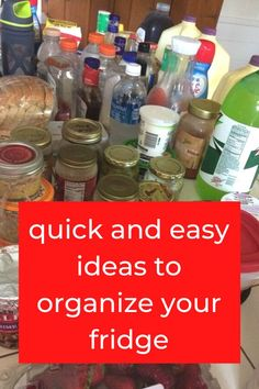 Check out these best kitchen organization hacks and ideas for your fridge. Organize your fridge for cheap with these dollar store storage ideas. #hometalk