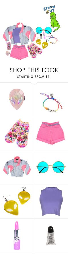 """space princess"" by iamdeadpoetry ❤ liked on Polyvore featuring Venessa Arizaga, Retrò, Silvian Heach, Lime Crime and Dolce&Gabbana"