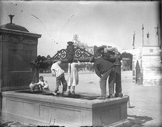 Hacia 1912. Plaza de San Marcial (actual plaza de España) | Flickr: Intercambio de fotos