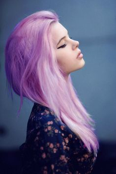 Violet/pink hair