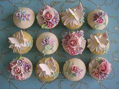 Pastel Garden Cupcakes