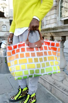 Jeremy Scott bag @ LFW S/S13