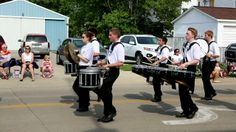 The Marching Ironmen from Normal Community HS marching in the Bloomington, IL Memorial Day Parade. Shot on 05/26/2014,