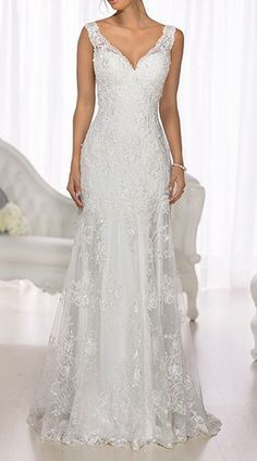 Lace Overlay Wedding Dress