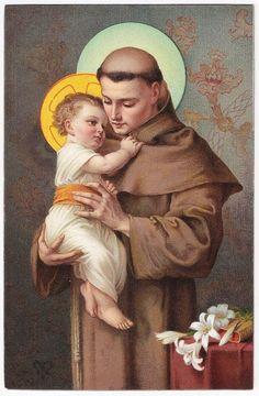Saint Anthony of Padua Antique Postcard by maimiesmerchantile