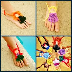 Crochet Disney Princess styled Barefoot Sandals