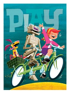 "Play - Oversized 13"" x 17.5"" Print"
