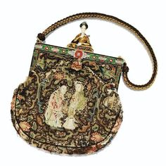 Vintage embroidered chinoiserie purse