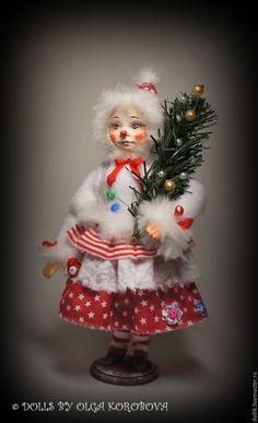 """Купить """"Пепита"""" - комбинированный, Новый Год, новогодний подарок, рождество, подарок, кукла ручной работы"""