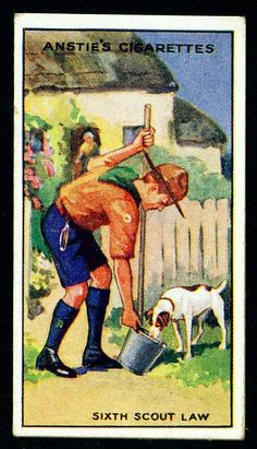 Cigarette Card - Scout Series #14 by cigcardpix, via Flickr