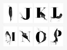 Print / ABC Artsy A-Z / Buchstaben Poster Skandinavisch Graphic Design Letters, Lettering Design, Logo Design, Fashion Typography, Typography Art, Letter Find, Letter Art, Hamsa Drawing, Black And White Landscape