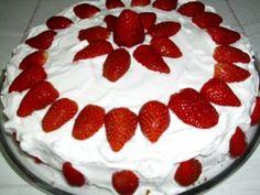 Receita de Bolo de morango ótimo para aniversário - Tudo Gostoso