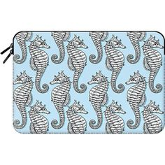Macbook Sleeve - Seahorses (81 AUD) ❤ liked on Polyvore featuring accessories, tech accessories and macbook sleeve
