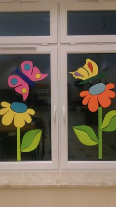 - You are in the right place for . - Fall Crafts For Kids Fall Crafts For Kids, Spring Crafts, Art For Kids, Diy And Crafts, Kids Crafts, Paper Crafts, Classroom Window Decorations, School Decorations, Flower Decorations