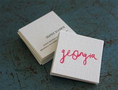 30 Examples of Chic Mini Square Business Cards (Part 2) #UniqueBusinessCards #businesscards