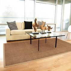 Accessories & Furniture,Enticing Natural Jute 4x4 Rug For Sunroom Area With Brown Colored Rug,Elegant 4 X 4 Rugs Design To Enchant Your Home