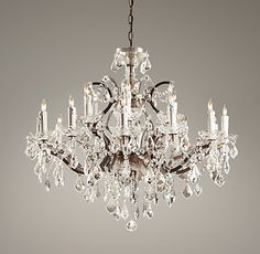 19th C. Rococo Iron & Crystal Large Chandelier   Ceiling   Restoration Hardware Baby & Child