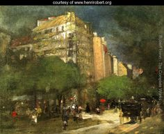 Cafe Du Dome Aka On The Boulevard Montparnasse - Robert Henri