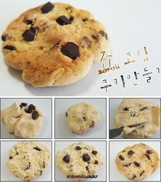 Tutorial fimo / clay miniature Chocolate Chip Cookies for doll play Fimo Polymer Clay, Crea Fimo, Polymer Clay Miniatures, Polymer Clay Projects, Polymer Clay Creations, Clay Crafts, Tiny Food, Cute Clay, Cookies Et Biscuits