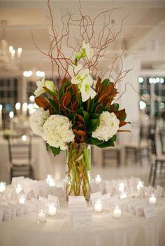 tall hydrangea and foliage centerpiece - Google Search