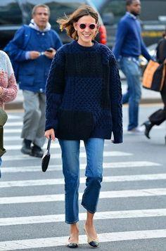 Fashion Gone rouge - Alexa Chung Looks Street Style, Looks Style, Chanel Street Style, Chanel Style, Casual Street Style, Mode Outfits, Casual Outfits, Fashion Outfits, Preppy Fashion